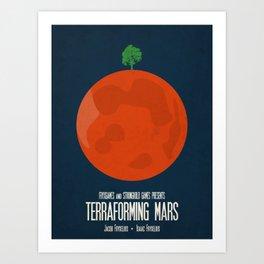 Terraforming Mars - Minimalist Board Games 02 Art Print