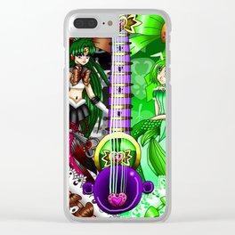 Sailor Mew Guitar #66 - Sailor Pluto & Mew Retasu Clear iPhone Case