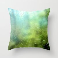 spider Throw Pillows featuring spider by Antracit