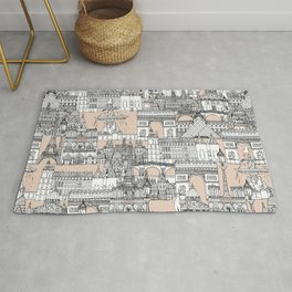 Paris toile sugar pink Rug