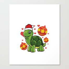 Just A Girl Who Loves Turtles And Christmas product Canvas Print