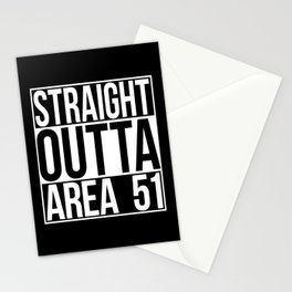 Straight Outta Area 51 Stationery Cards