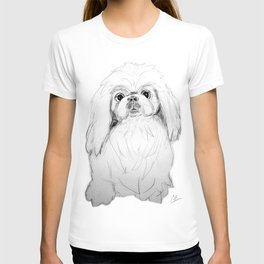 Cartoon Pekingese Dog T-shirt