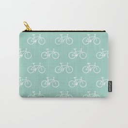 bicycles textured - teal Carry-All Pouch