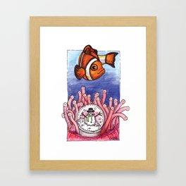 Christmas Clownfish Framed Art Print
