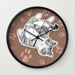 Petoux the Cat, Patterned Wall Clock