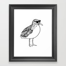 cool Seagull Framed Art Print