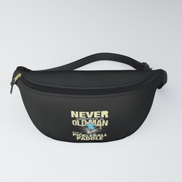 Pickleball - Old Man With A Pickleball Paddle Fanny Pack