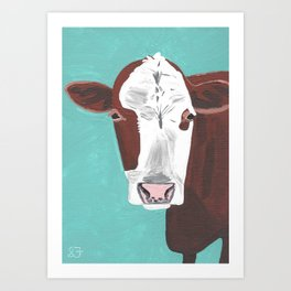 A Cow Named Adeline Art Print