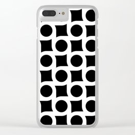 TIMELESS ORA. BLACK AND WHITE GEOMETRIC ELEMENTS BY SUBGRL Clear iPhone Case