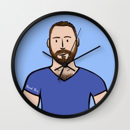 Beard Boy: Matthias Wall Clock
