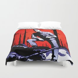 Don't Let Him Come Home to This. Prevent Forest Fires! Duvet Cover