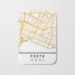 PERTH AUSTRALIA CITY STREET MAP ART Bath Mat