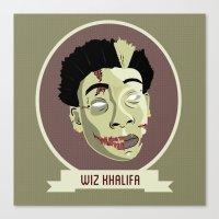 wiz khalifa Canvas Prints featuring zombie wiz by Sneaker Pie