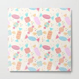 Sweet Dreams Candy Treats Pattern Metal Print