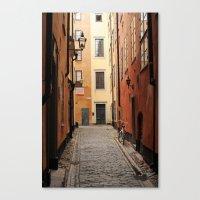 Stockholm Alley Canvas Print