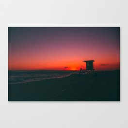 Sunset Beach CA Canvas Print