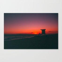 Sunset Beach CA Canvas Print