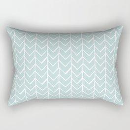 Herringbone Mint Rectangular Pillow