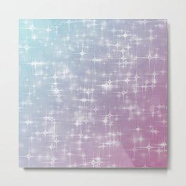 Blue & Purple Sparkles Metal Print