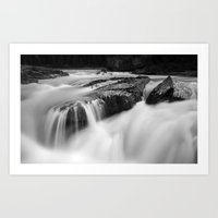 Long Exposure Waterfall, Canadian Rockies Art Print