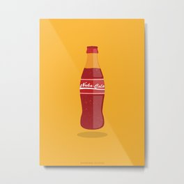 Nuka Cola Flat Design Metal Print