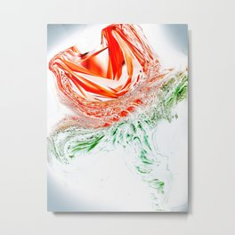"""Glass Rose"" Metal Print"