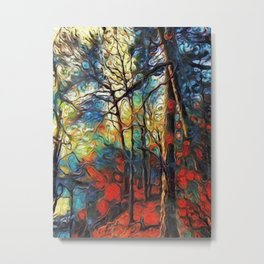 Winter Woodlands Metal Print