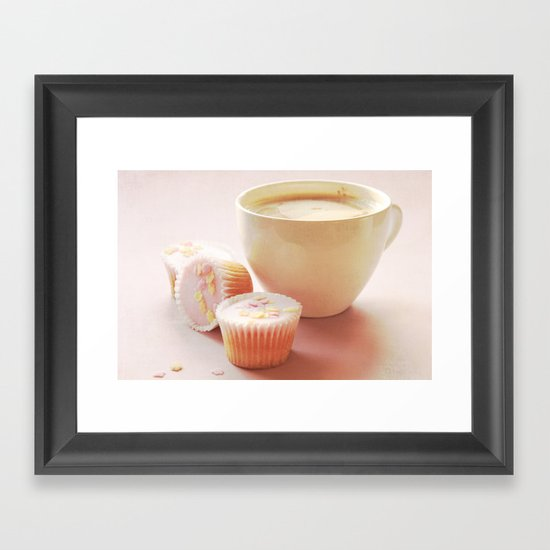 Cupcakes & Coffee  Framed Art Print