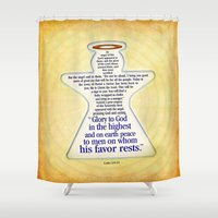 angel Shower Curtains featuring Angel by Peter Gross