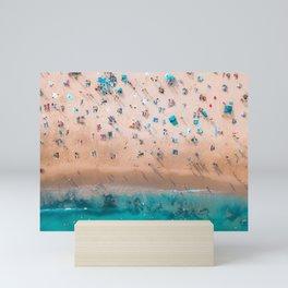 Crowded Bondi Beach 2 Mini Art Print