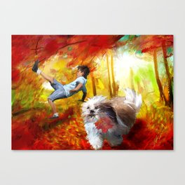 Chasing things in the wind Canvas Print