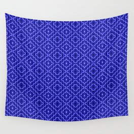 Neon blue diagonal Wall Tapestry