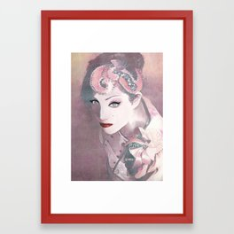 """Red lips"" Framed Art Print"