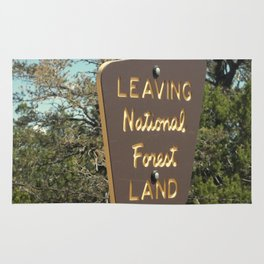Leaving National Forest Land Rug