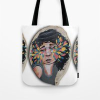snatch Tote Bags featuring I See In Color by Ben Geiger