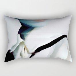 glitch art, portrait Rectangular Pillow