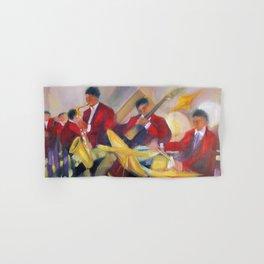 Harlem Renaissance Savoy Ballroom Jazz Age African American Musical portrait painting M. Fillonneau Hand & Bath Towel