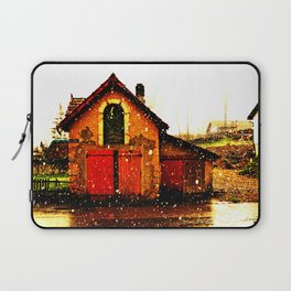 little house and snow Laptop Sleeve