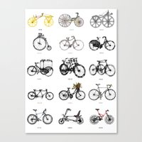 bicycles Canvas Prints featuring Bicycles by MuDesignbyMugeBaris