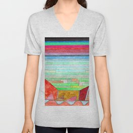 Paul Klee View into Fertile Country Unisex V-Neck