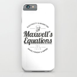 Maxwell's Equations iPhone Case