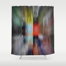 Distorted Fronts Shower Curtain