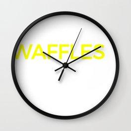 Waffles & Maple Syrup Food Design Wall Clock