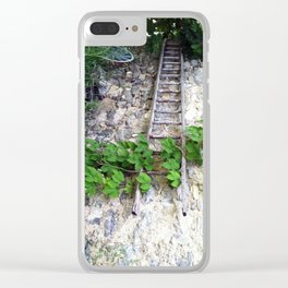 Swiss Barn and Ladder Clear iPhone Case