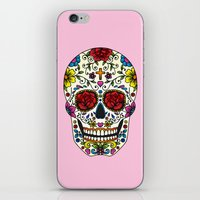 sugar skull iPhone & iPod Skins featuring Sugar Skull by Jade Boylan