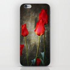 tulipes rouges iPhone & iPod Skin