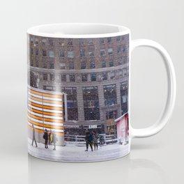 American Flag in Snowy Times Square, NYC Coffee Mug