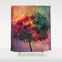 Love in Fall Shower Curtain