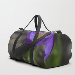 Small Purple Crocus flower Duffle Bag